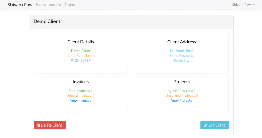 Customer Relationship Manager built with Laravel.